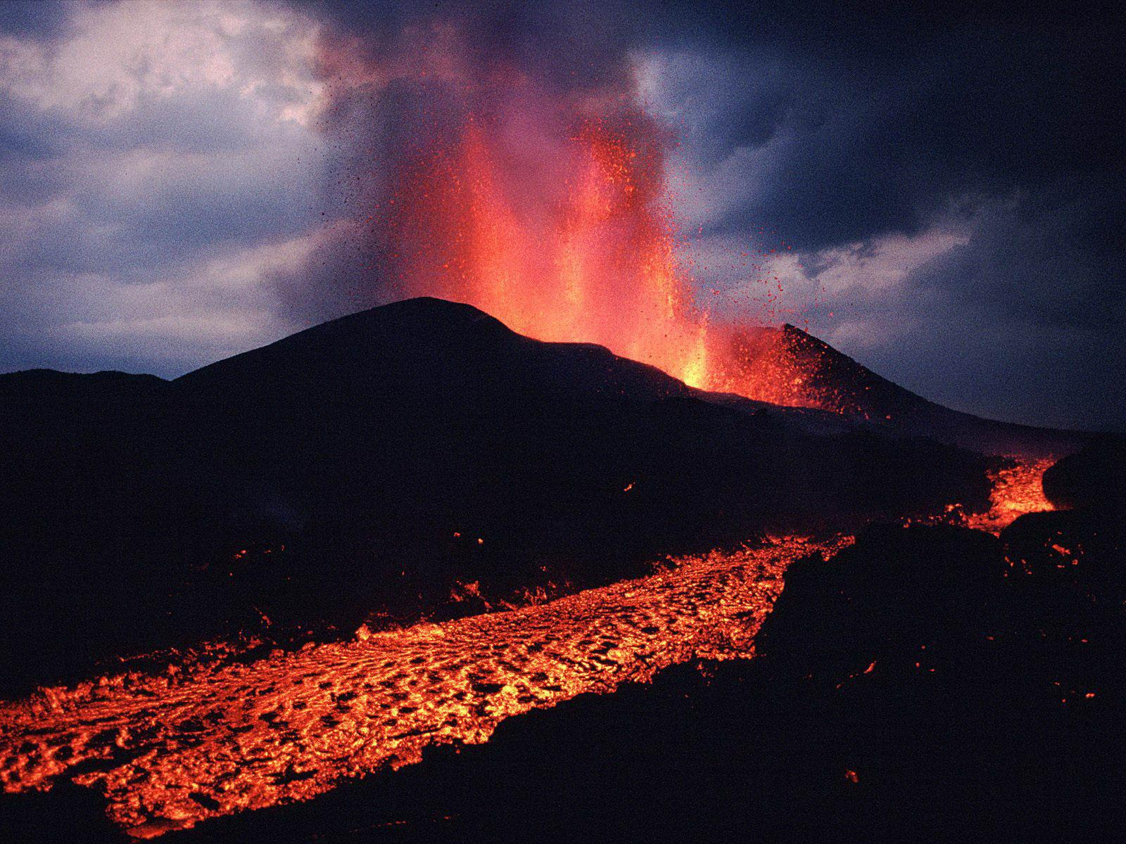 Desktop, wallpapers, volcano, backgrounds, landscape, eruption