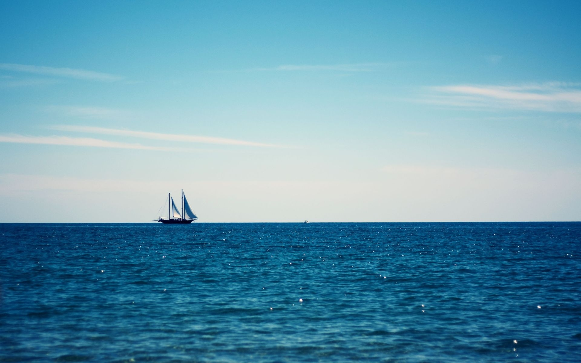 Sailing ship on the sea | Wallpapers Galaxy