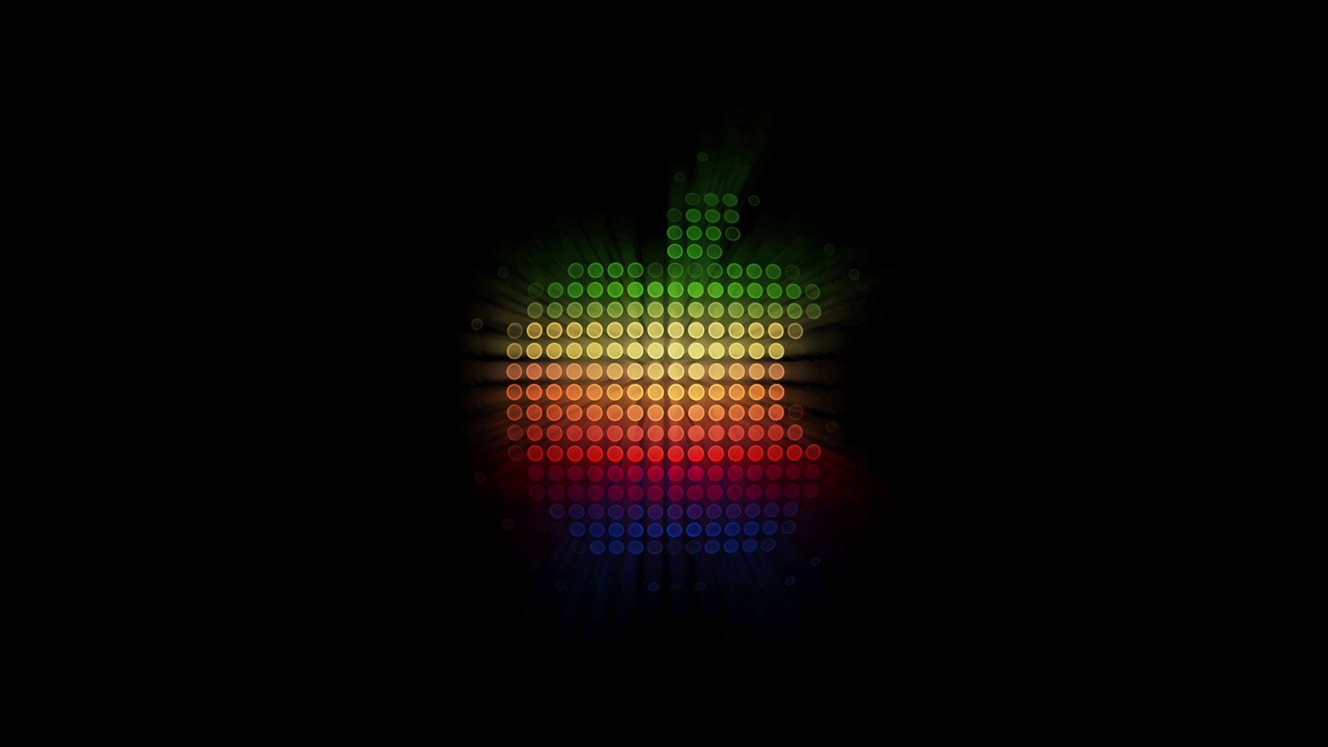 Apple Lights Black Background HD Wallpaper