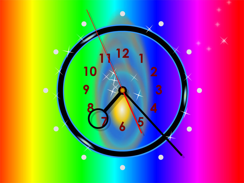 Colorful Clock Wallpaper - Download The Free Colorful Clock Wallpaper