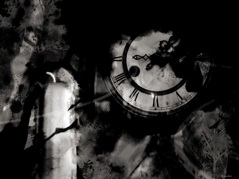 Gothic Clock Wallpaper