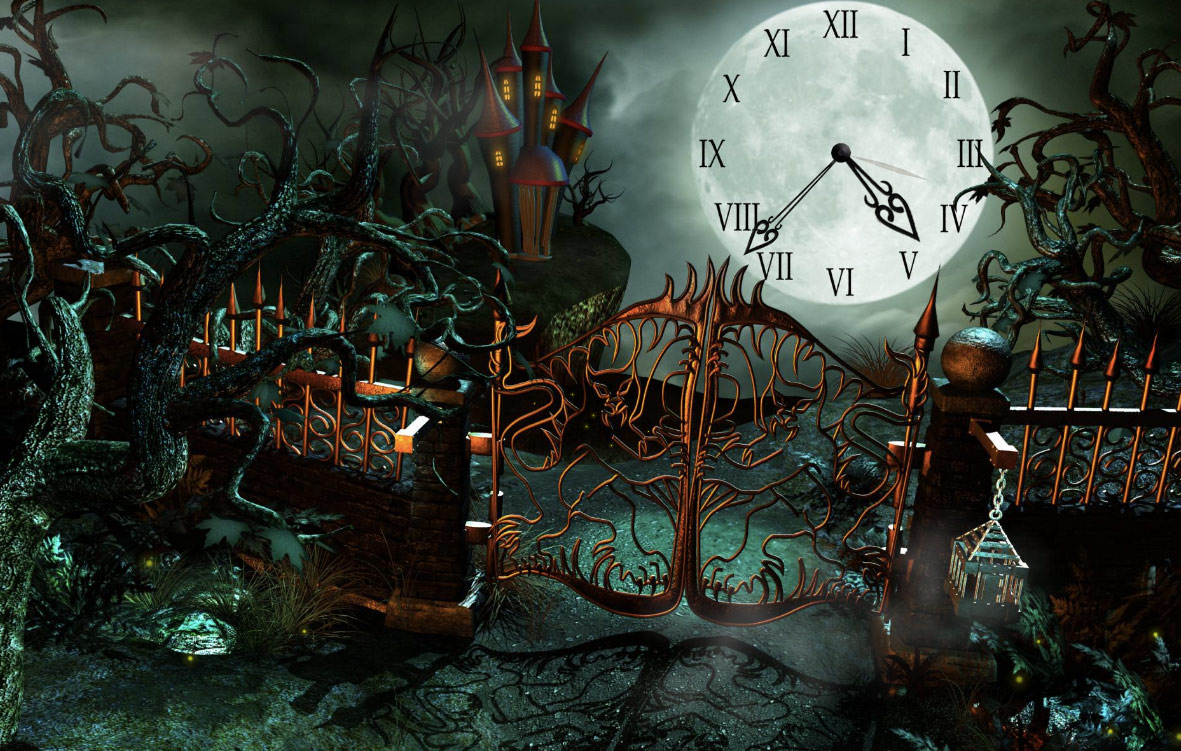 Magic Castle Clock HD Wallpaper