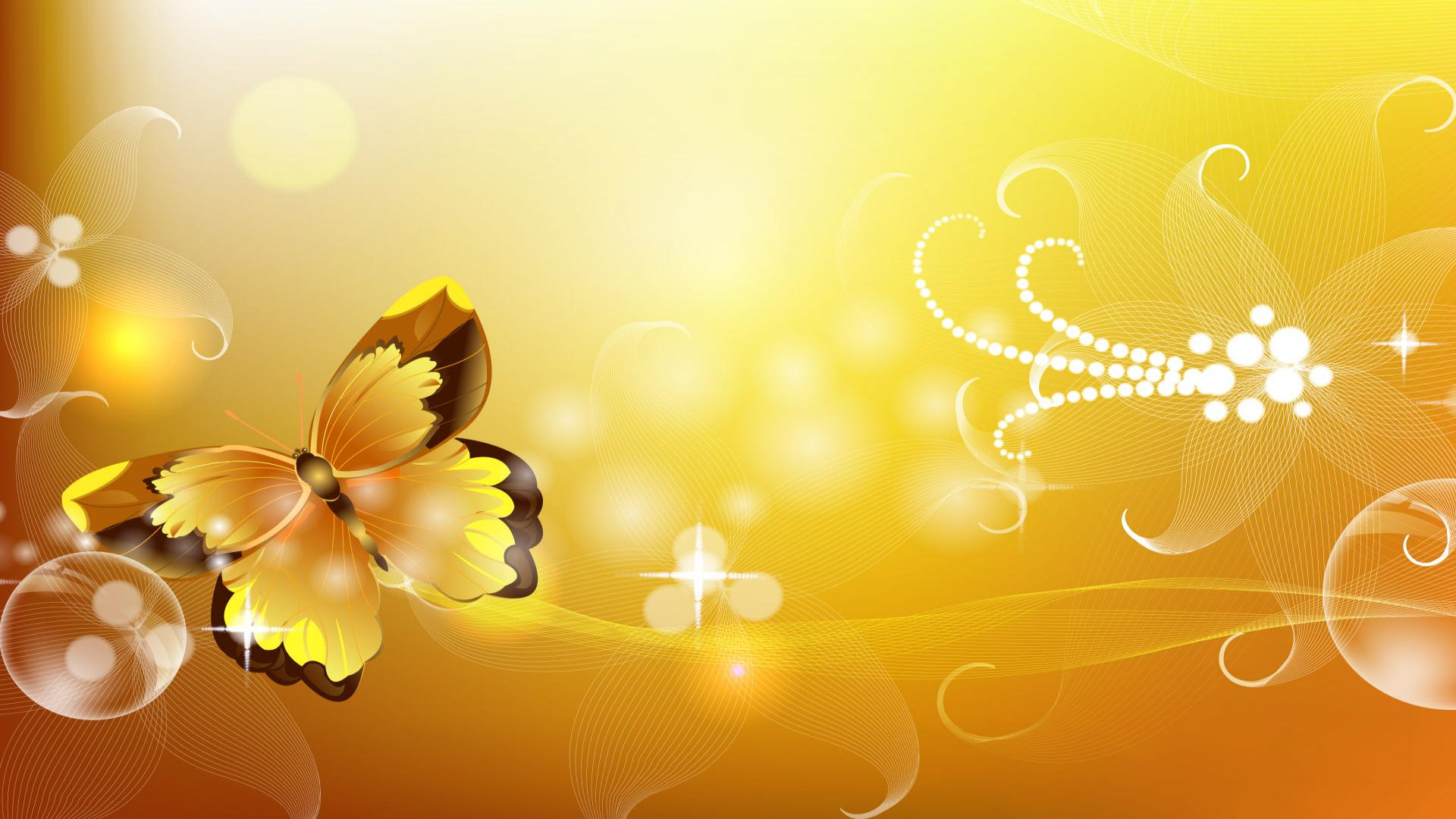 Yellow Butterfly In Yellow Backgrounds Hd Wallpaper | Unique Nature HD