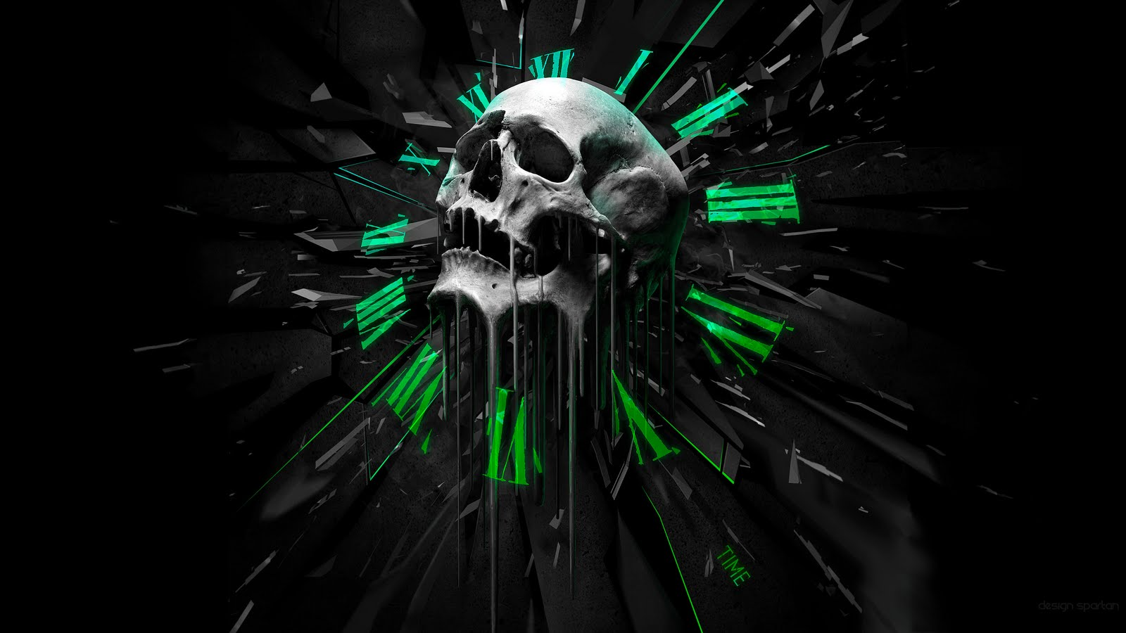 Wallpaper Death Gothic Skull HD