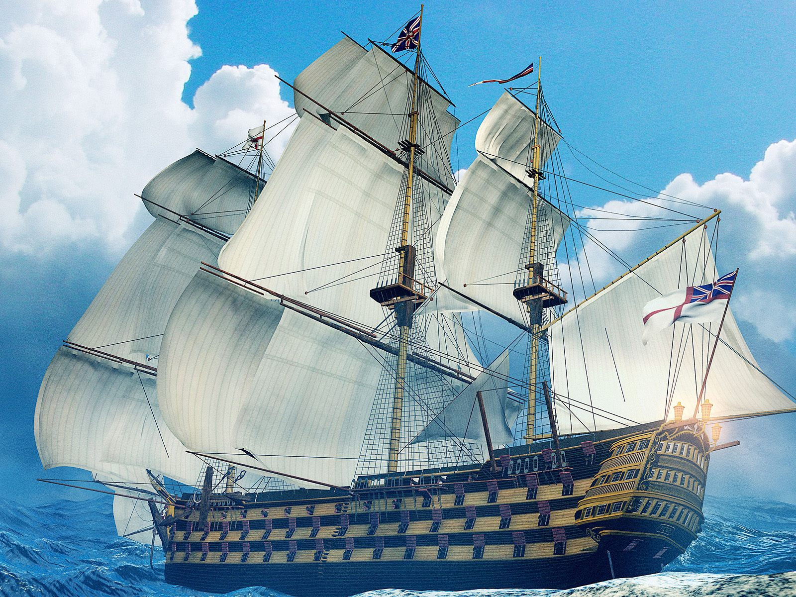 wallpaper huge ship 3d graphics. Wallpapers 3d for desktop, 3d Wallpaper
