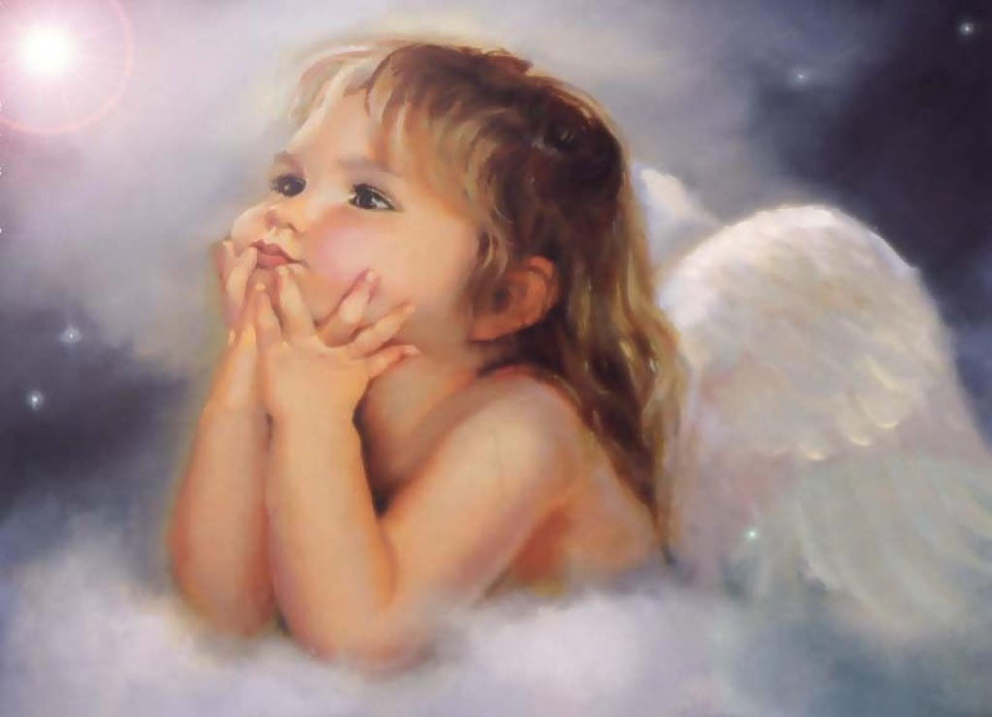 Little Angel Girl 1024x768 - Download FREE Widescreen HD Little Angel