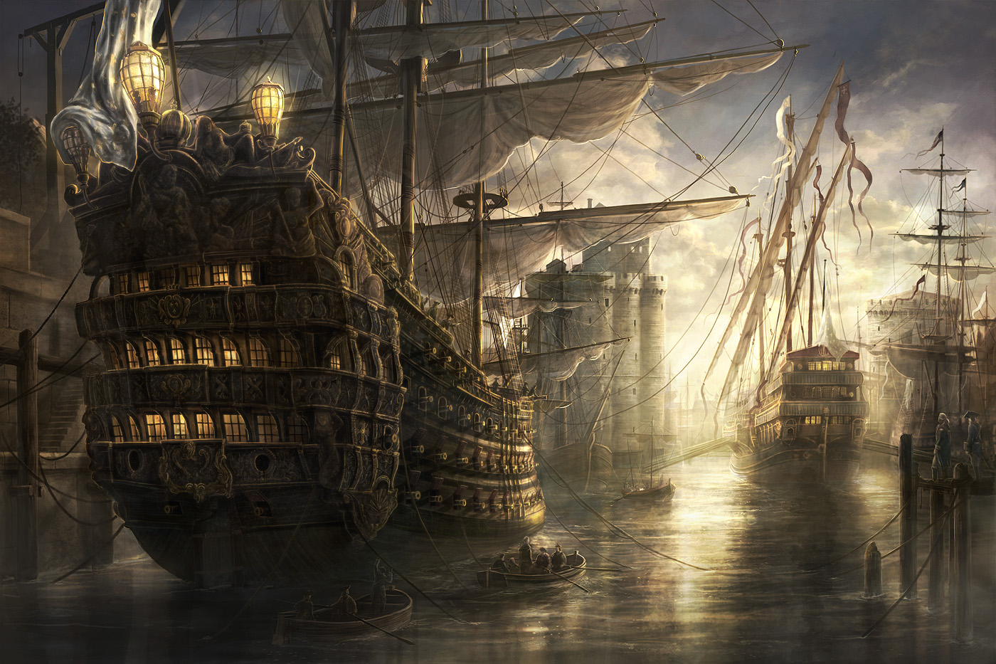 Old Pirate Ship Wallpaper Free hq Old Ship Wallpaper
