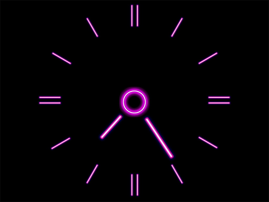 Pink Neon Clock Wallpapers