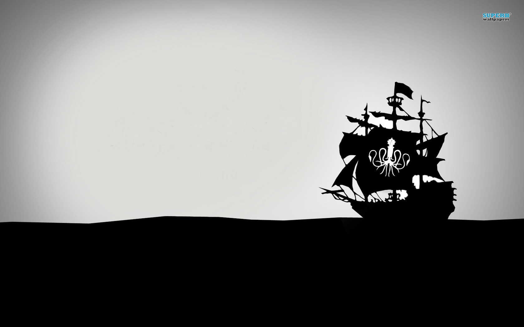 Pirate ship wallpaper - Vector wallpapers