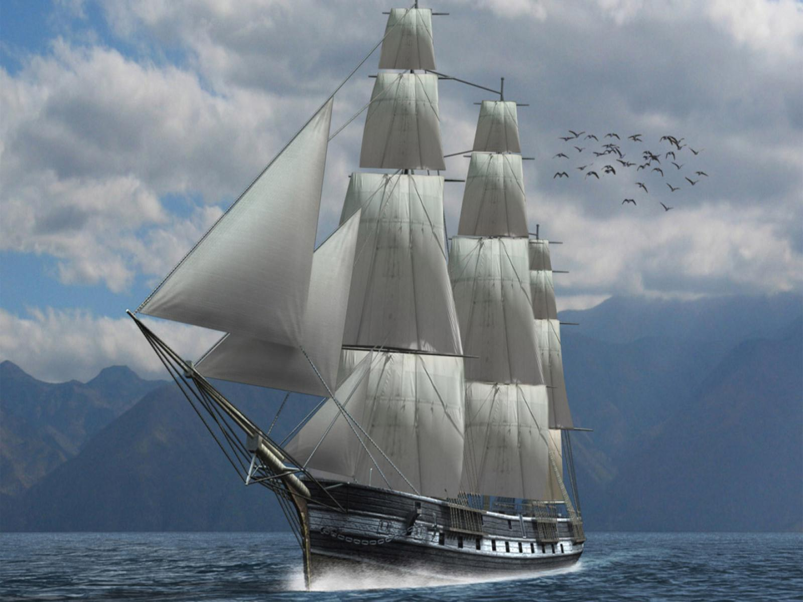 HD Sailing Ship 1440x900 - Download FREE Widescreen HD Sailing Ship