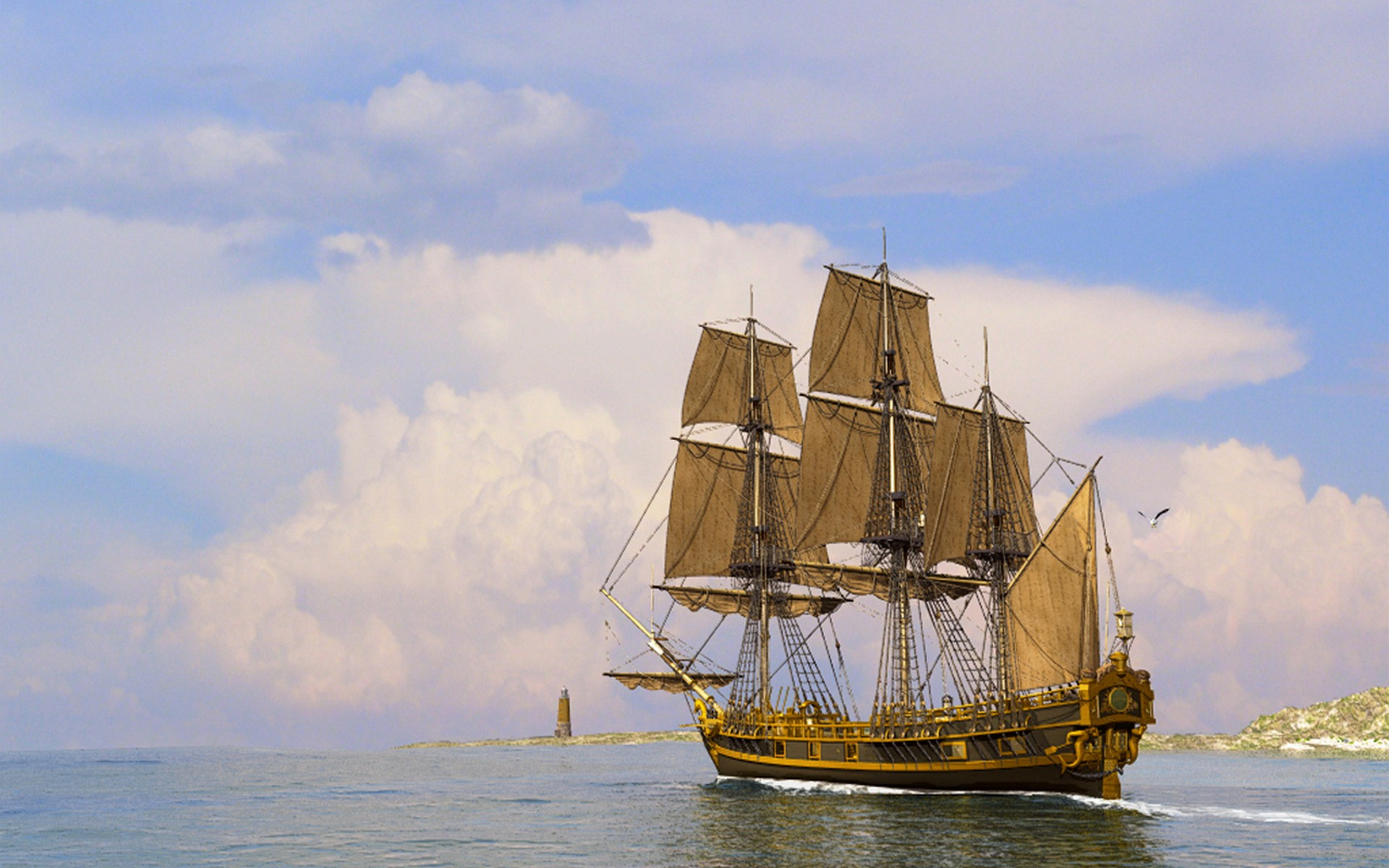 Ships Sail Wallpaper 1920x1200 Ships, Sail, Ship, Sails