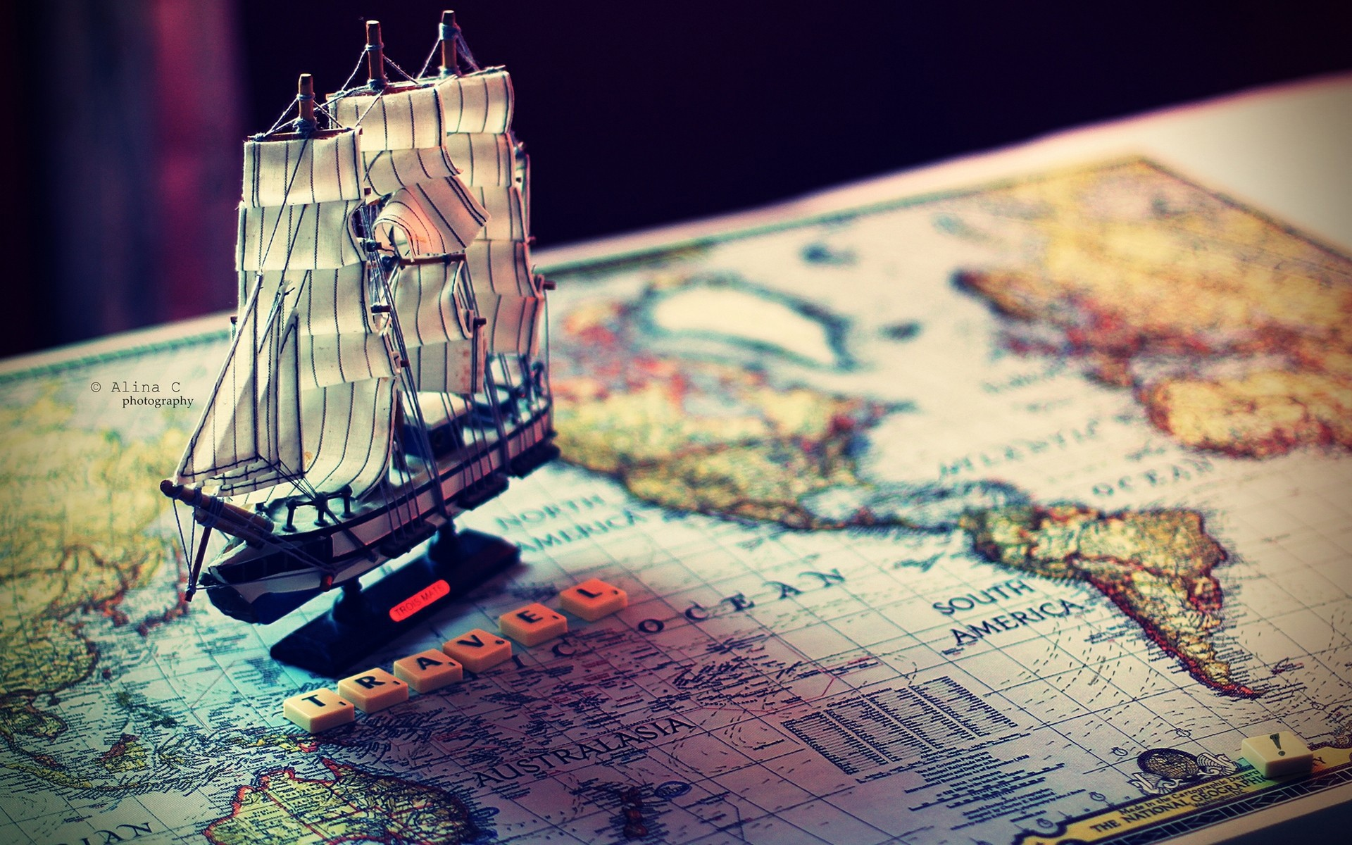 Travel map sailing ship Wallpapers Pictures Photos Images