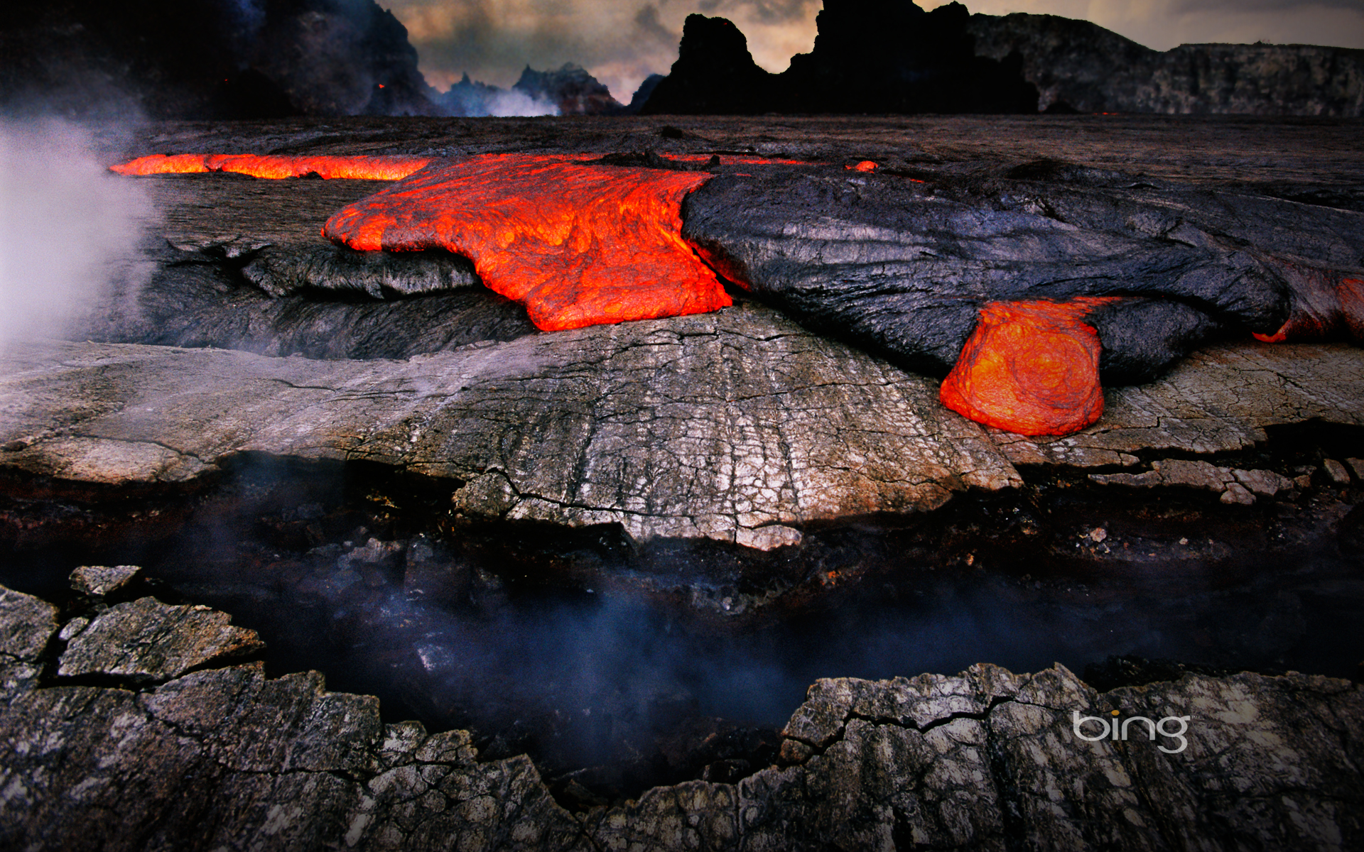Volcano Of Bing Hawaii Lava Windowstheme Wallpaper with 1920x1200
