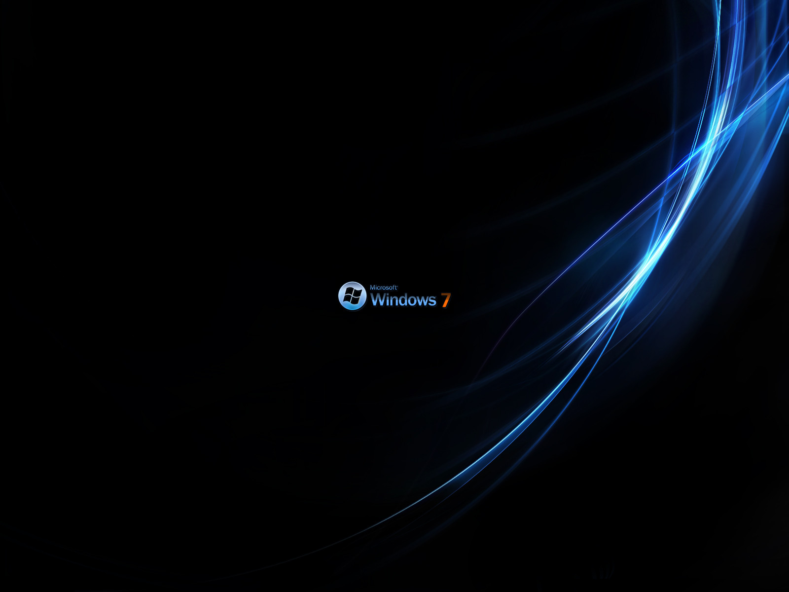 windows 7 blue orange black wallpaper