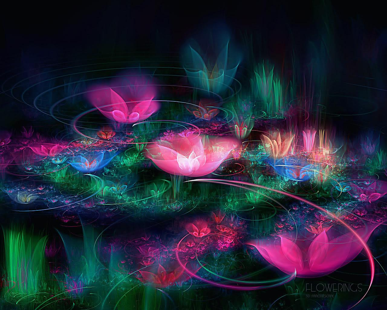 Fantastic Abstract Flowers Wallpaper 1280×1024. Jpg, Abstract, Colors Wallpaper