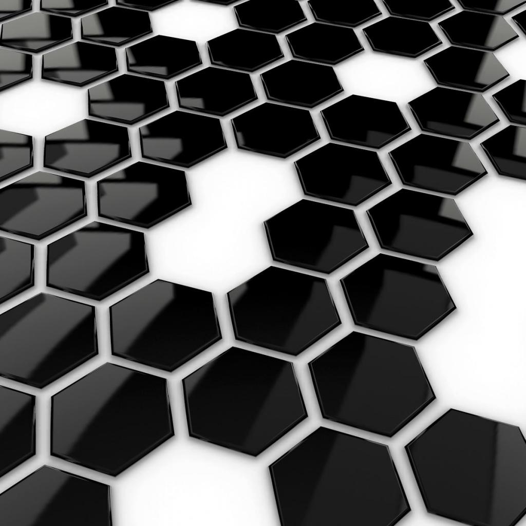 3D IPad Wallpaper   Black Hex | MyWalls HD Wallpaper