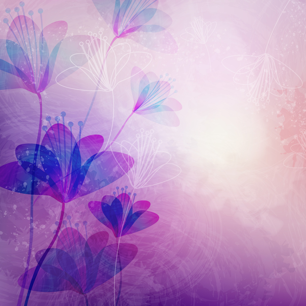 Purple Flowers On HDiPadWallpaper.com Wallpaper