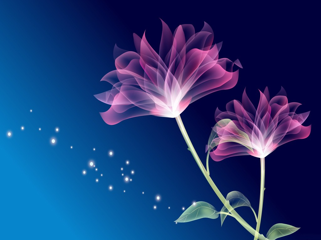 Save Magical Pink Animated Flowers To Your Desired Location Wallpaper