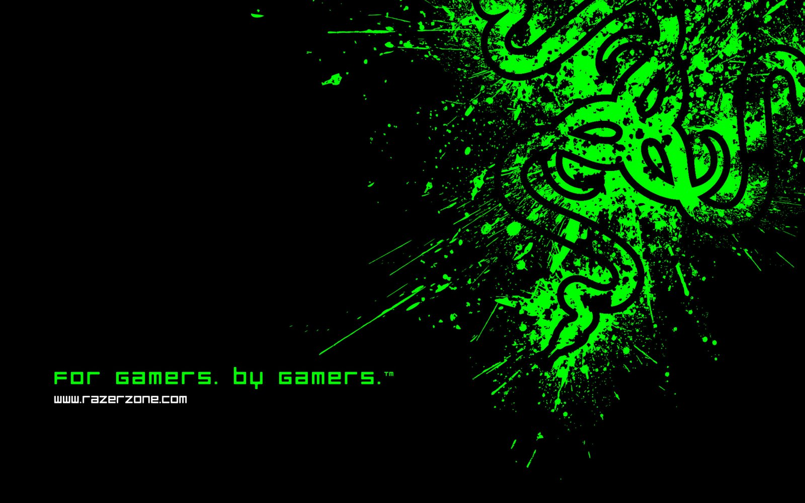 Wallpapers Box: Razer Black & Green Logo 1920×1200 HD Wallpapers Wallpaper