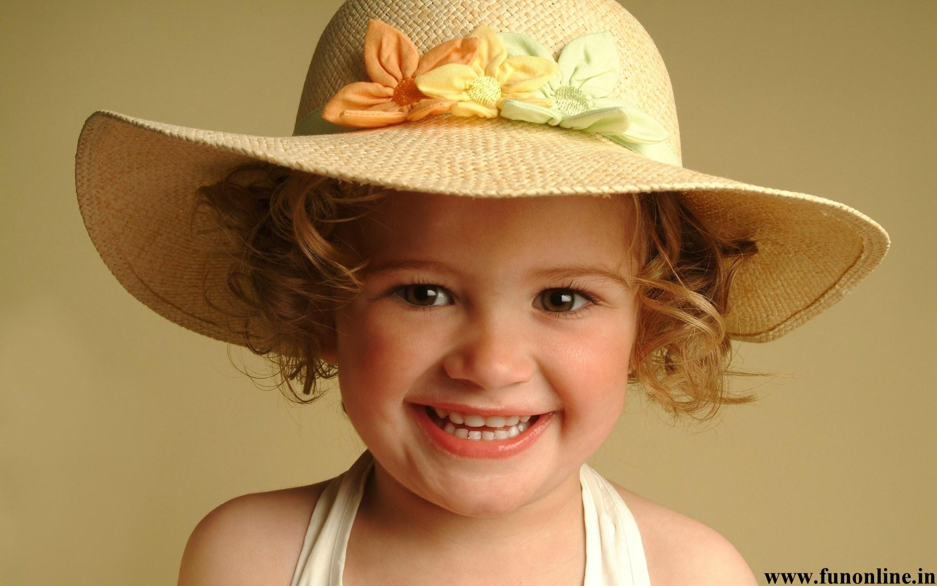 Collection Of Baby Girl Wallpapers Cute Girl Baby Wearing Lovely Hat Wallpaper