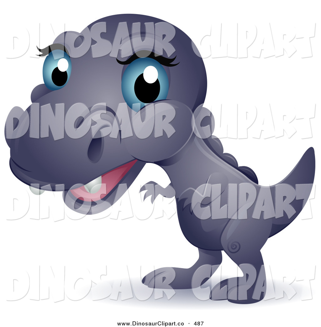 Vector Clip Art Of A Cute Blue Eyed Purple Baby T Rex By BNP Design Wallpaper
