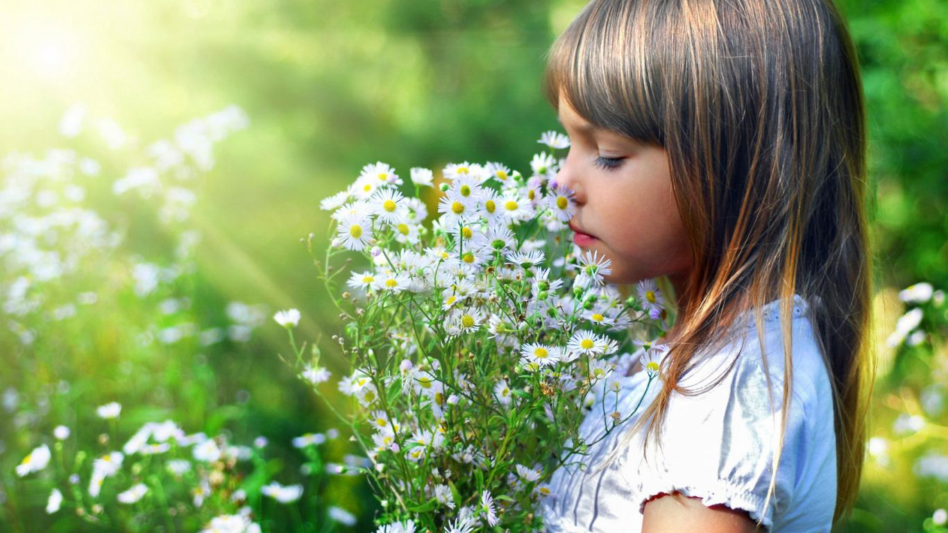 Cute Baby Girl X Childer Little Flowers 1366×768 | #147242 #small Cute Wallpaper