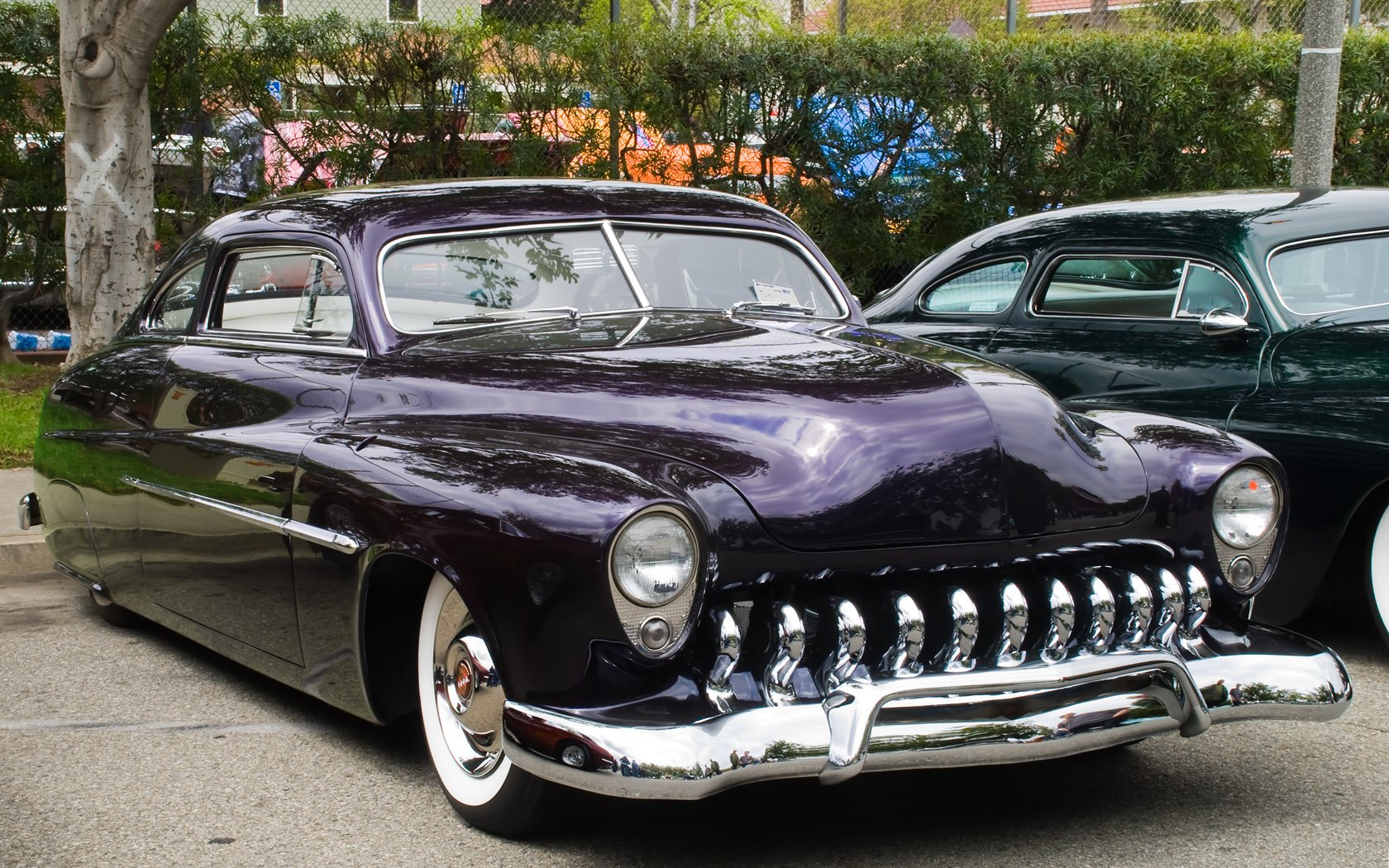 POWER CARS: Mercury Eight Custom Lead Sled Wallpaper
