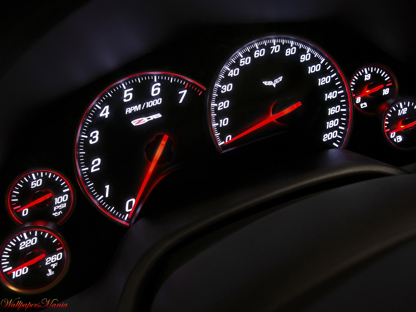 , Car, Dashboard, Red Arrows, Speedometer   Full HD Desktop Wallpaper Wallpaper