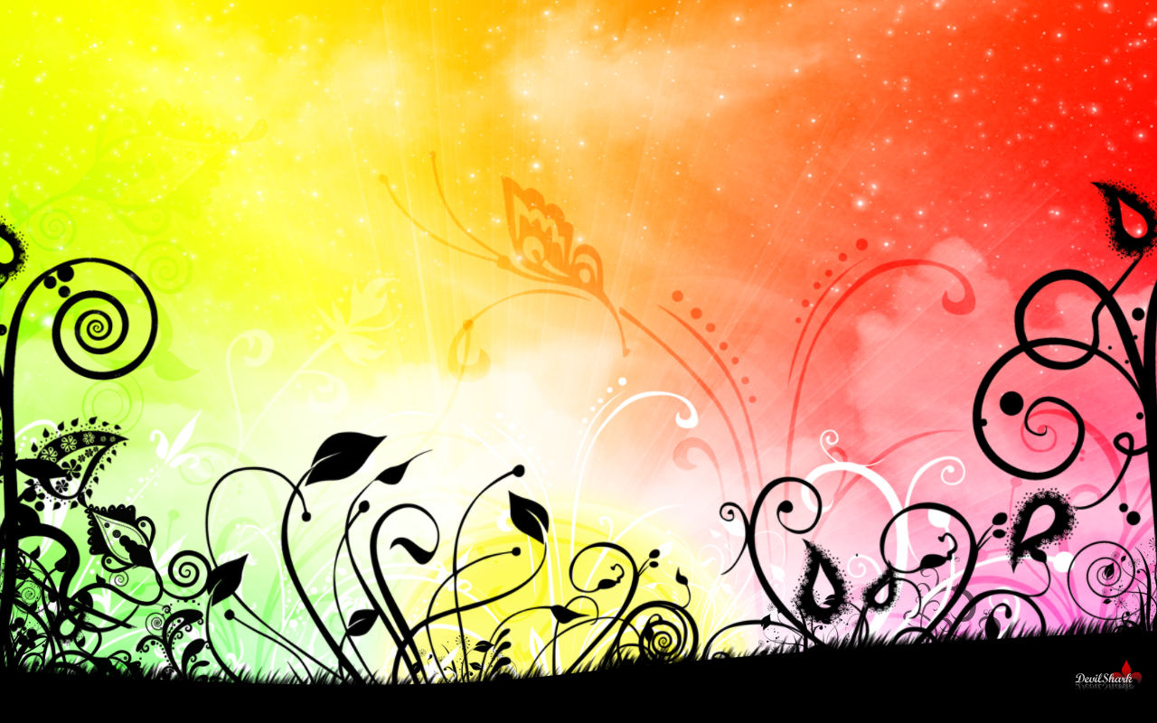 Abstract Flowers Rainbows Floral Fresh New HD Wallpaper Best Quality Wallpaper
