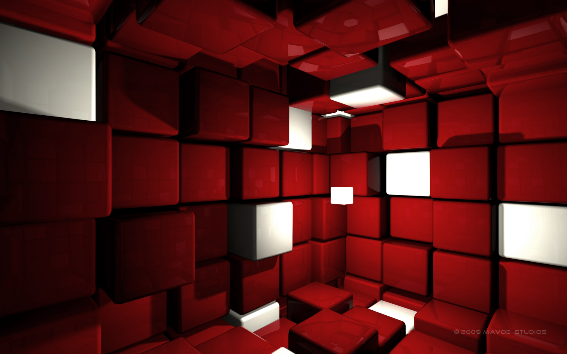 cube room 3d abstract cube red room whit 1876 hd wallpapers