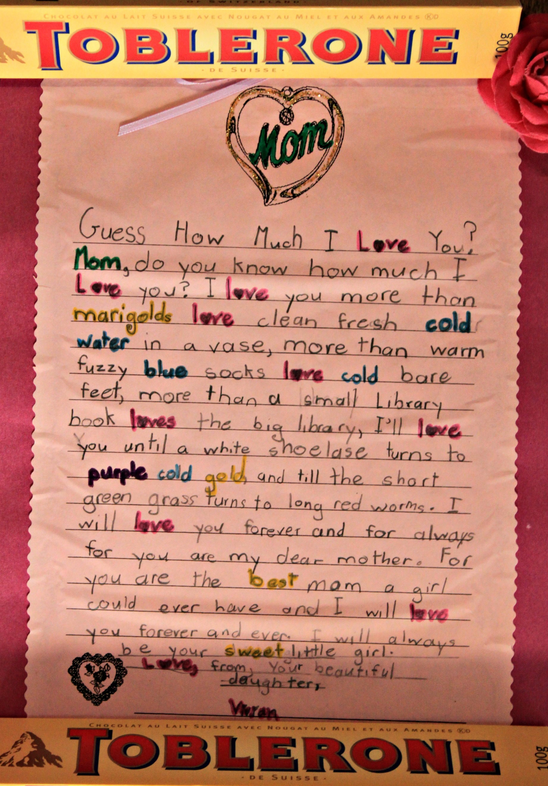 Love You Mom Poems From Kids Wallpaper