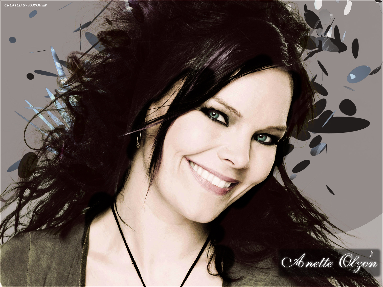 Anette Olzon 2 Wallpaper From Gothic Girls Wallpapers Wallpaper
