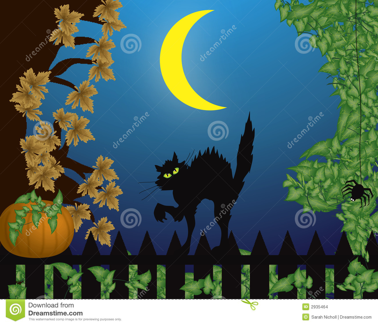 Halloween Scene With Cat Stock Images   Image: 2935464 Wallpaper