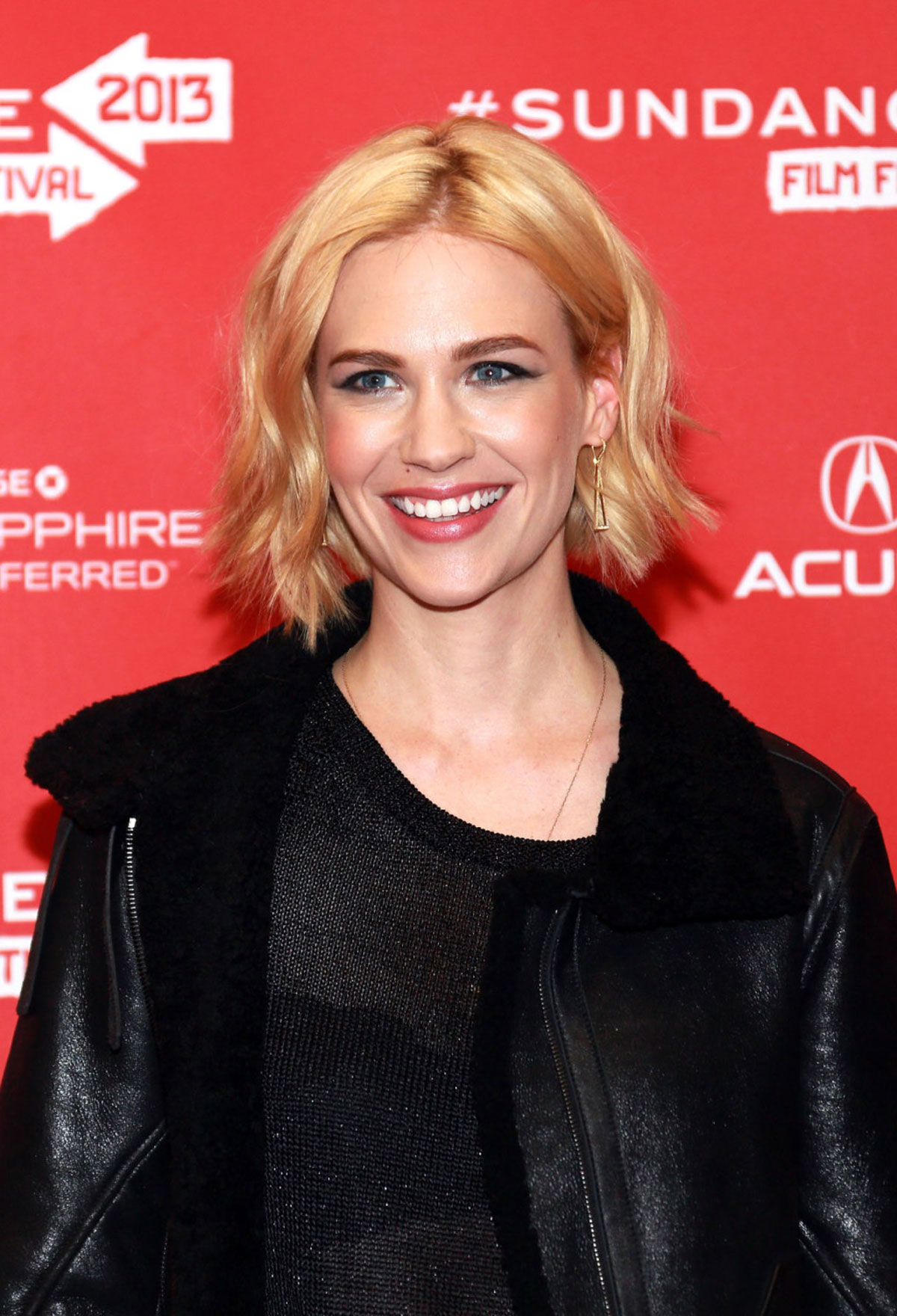 JANUARY JONES At Sweetwater Premiere At 2013 Sundance Film Festival Wallpaper
