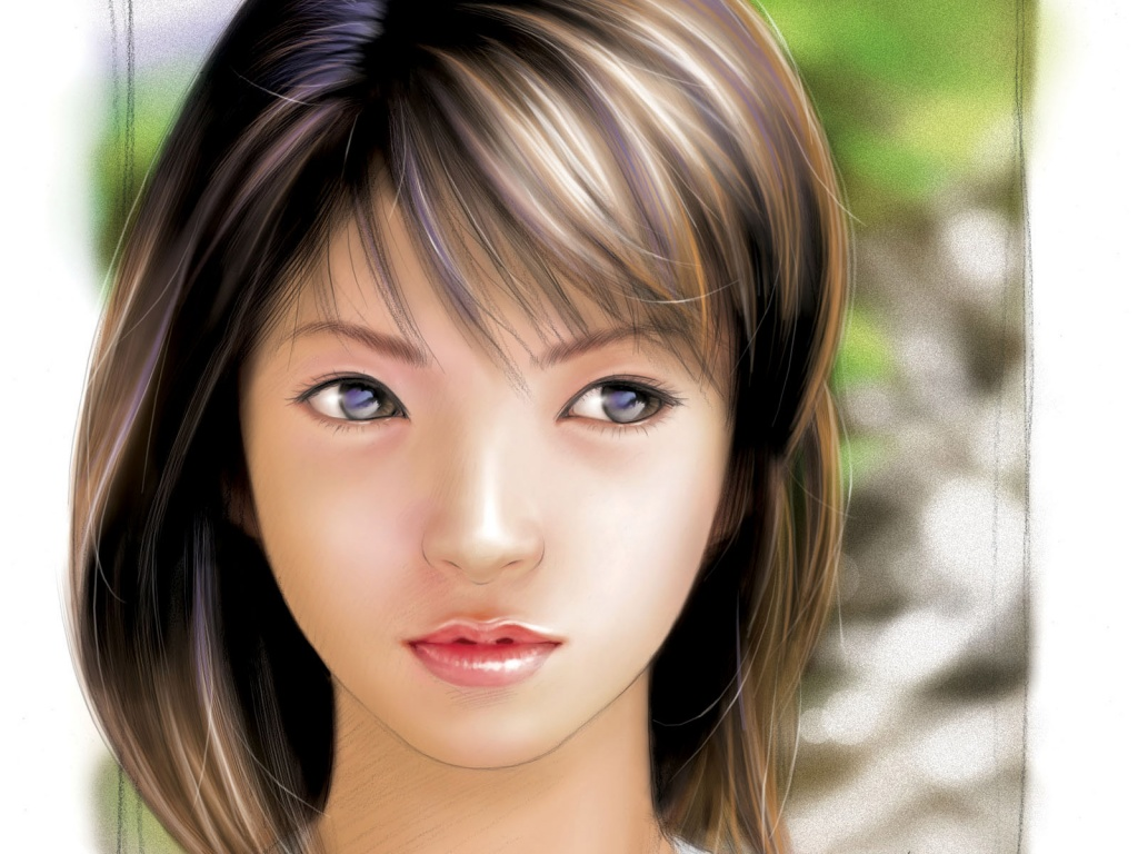 HD Wallpapers: 1024×768 » Girls » 3d Asian Girl Computer Background Wallpaper