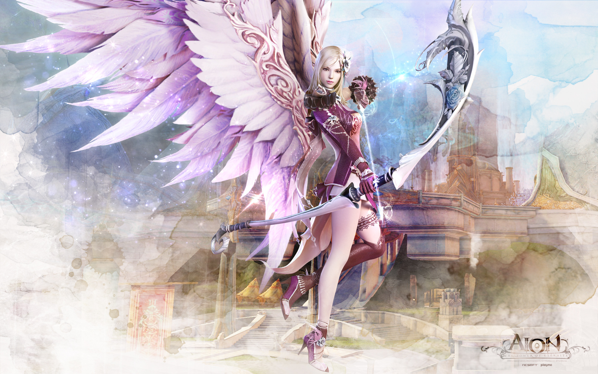 Aion Fantasy CG Archer Girl Wallpapers | HD Wallpapers Wallpaper