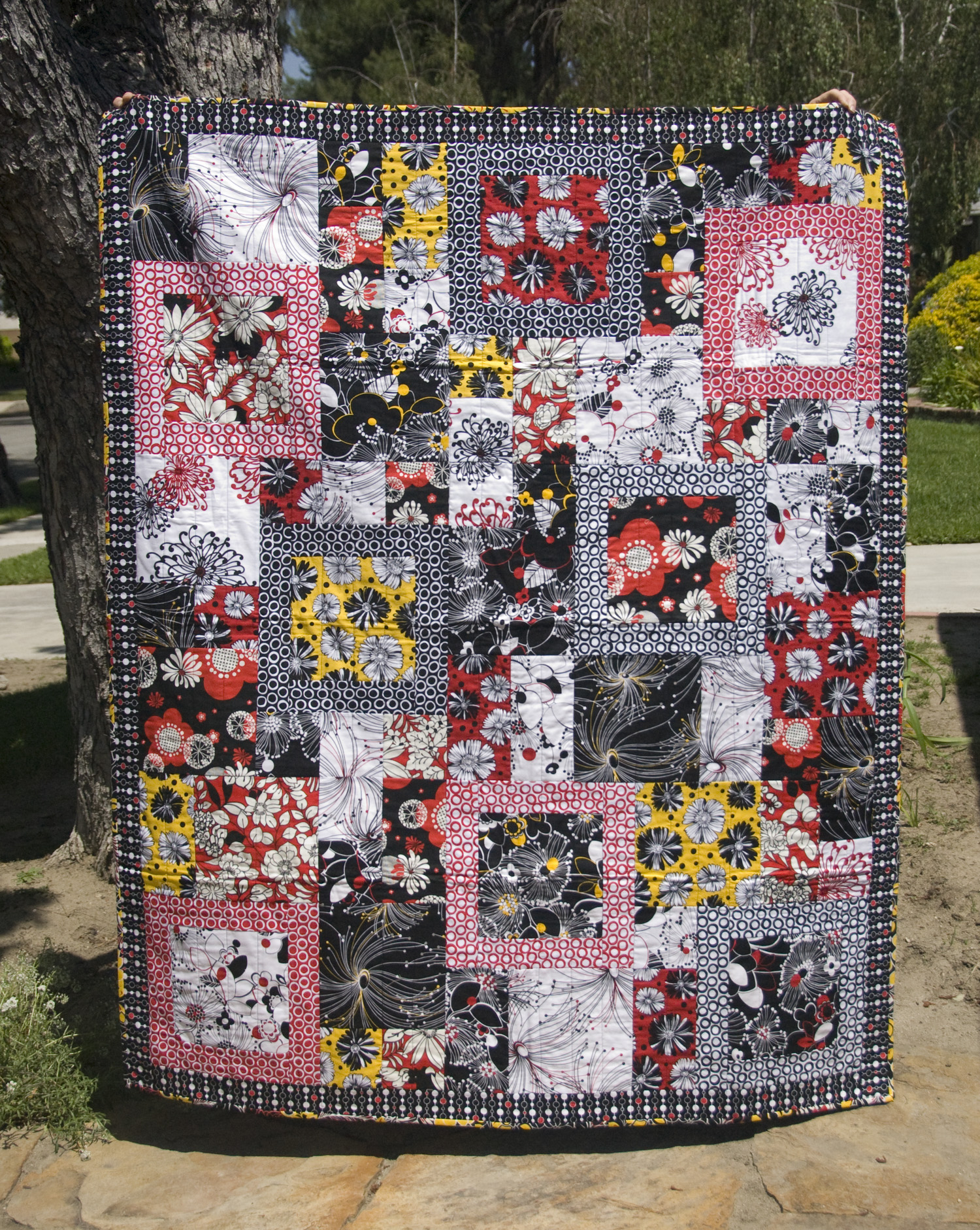 QUILT #8 $200 – Boxed In – Big Lap Sized – 51″ X 68″ Pattern Wallpaper
