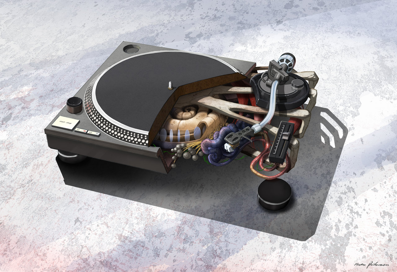 Technics SL 1210MK2 Creative DJ Music Audio Vinyl Sound Disc Party Wallpaper
