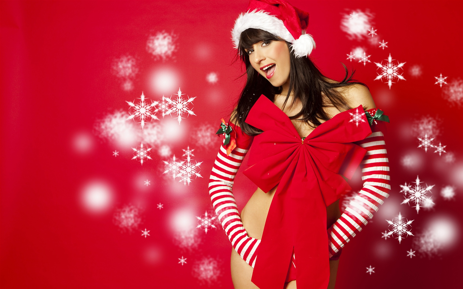 New Year Christmas Girl Wallpaper | 1920×1200 Resolution Wallpaper Wallpaper
