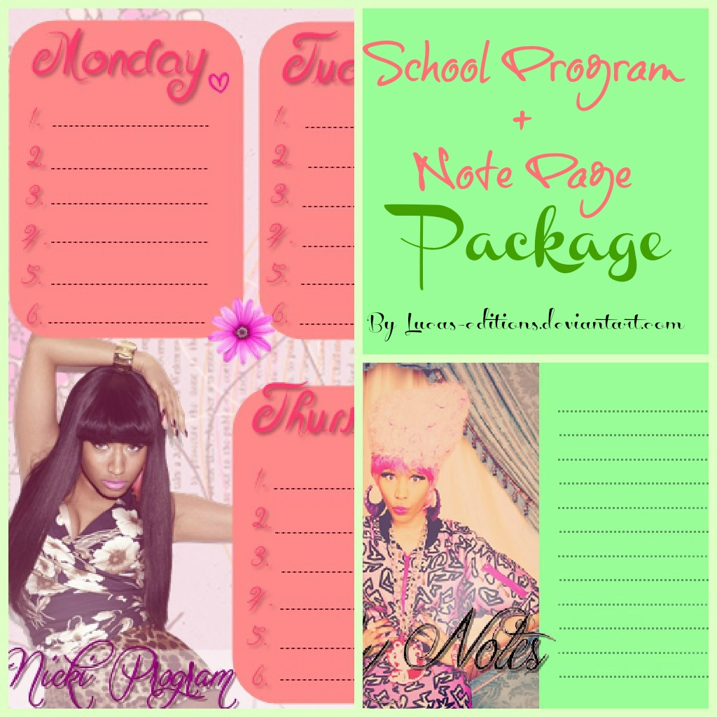Program + Note Page Ft. Nicki Minaj   School Start By ~Lucas Editions Wallpaper