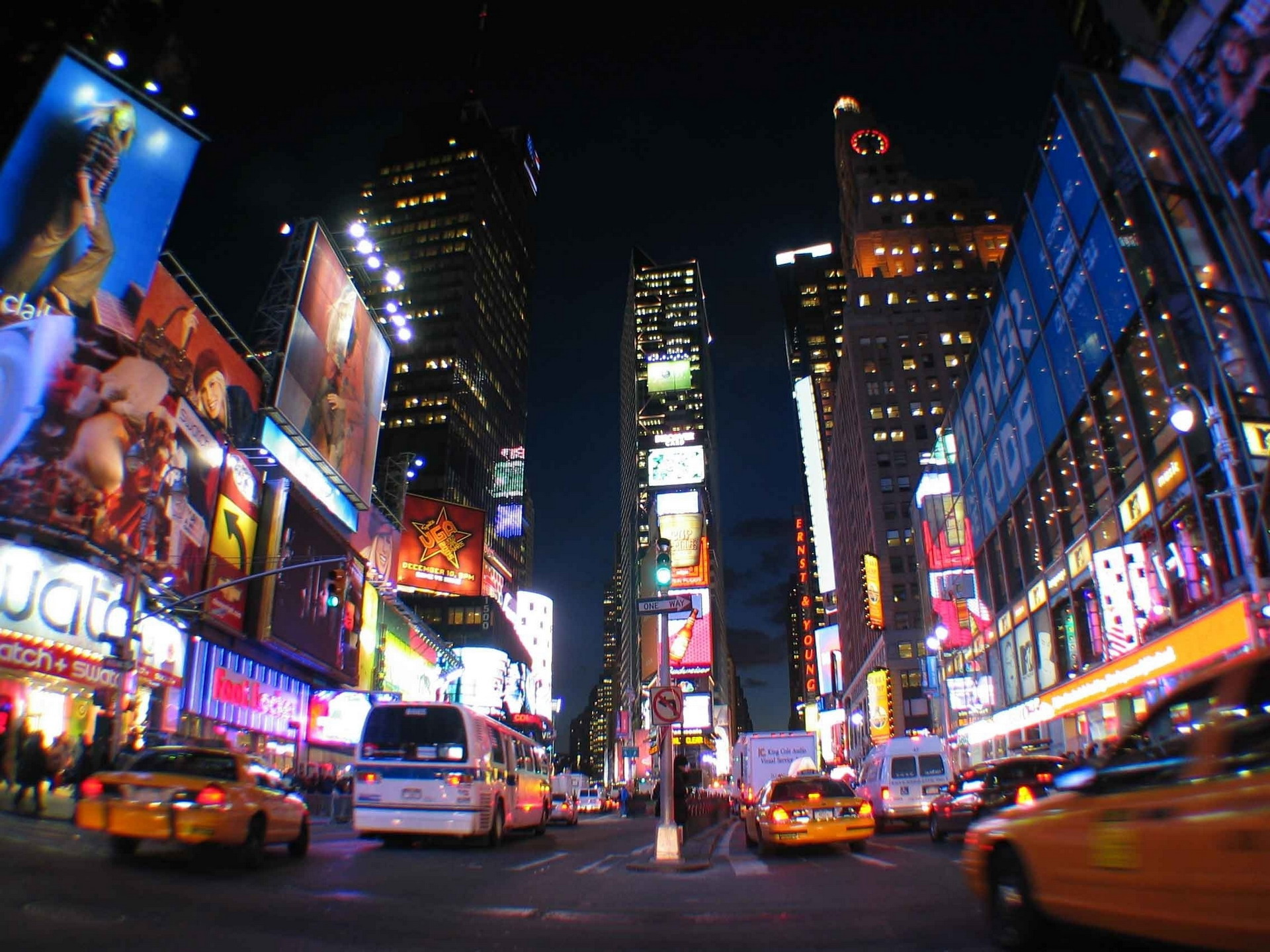 New York City Night Lights Times Square | My Wallpapers Wallpaper