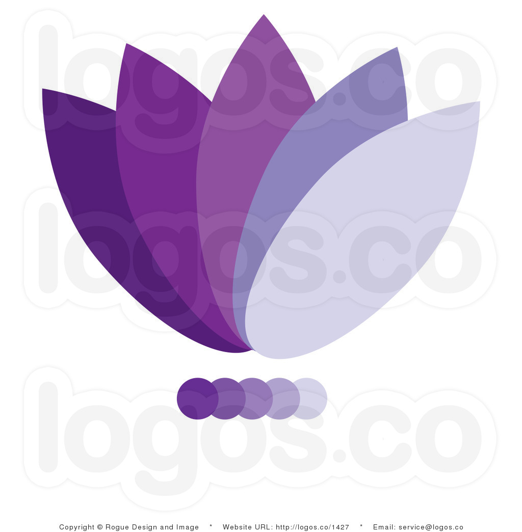 Icon Of Flower Petals With Different Shades O 3435 Hd