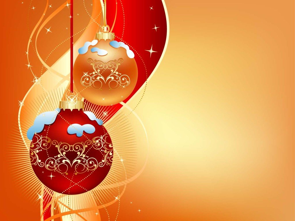Gold And Red Christmas Ball On Light Background   Christian Wallpaper Wallpaper