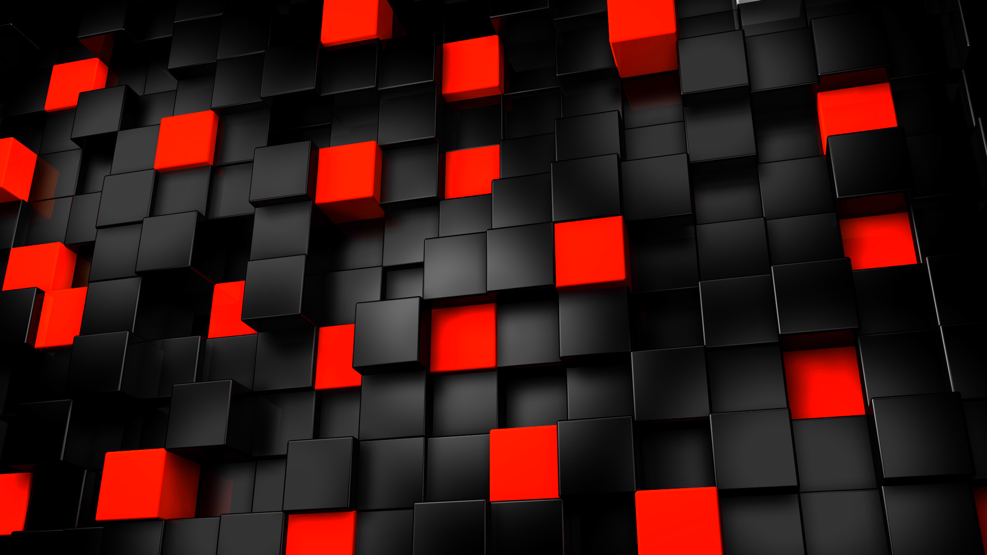 Abstract Black And Red Cubes   Wallpapers, Free Cool Deskop Wallpapers Wallpaper