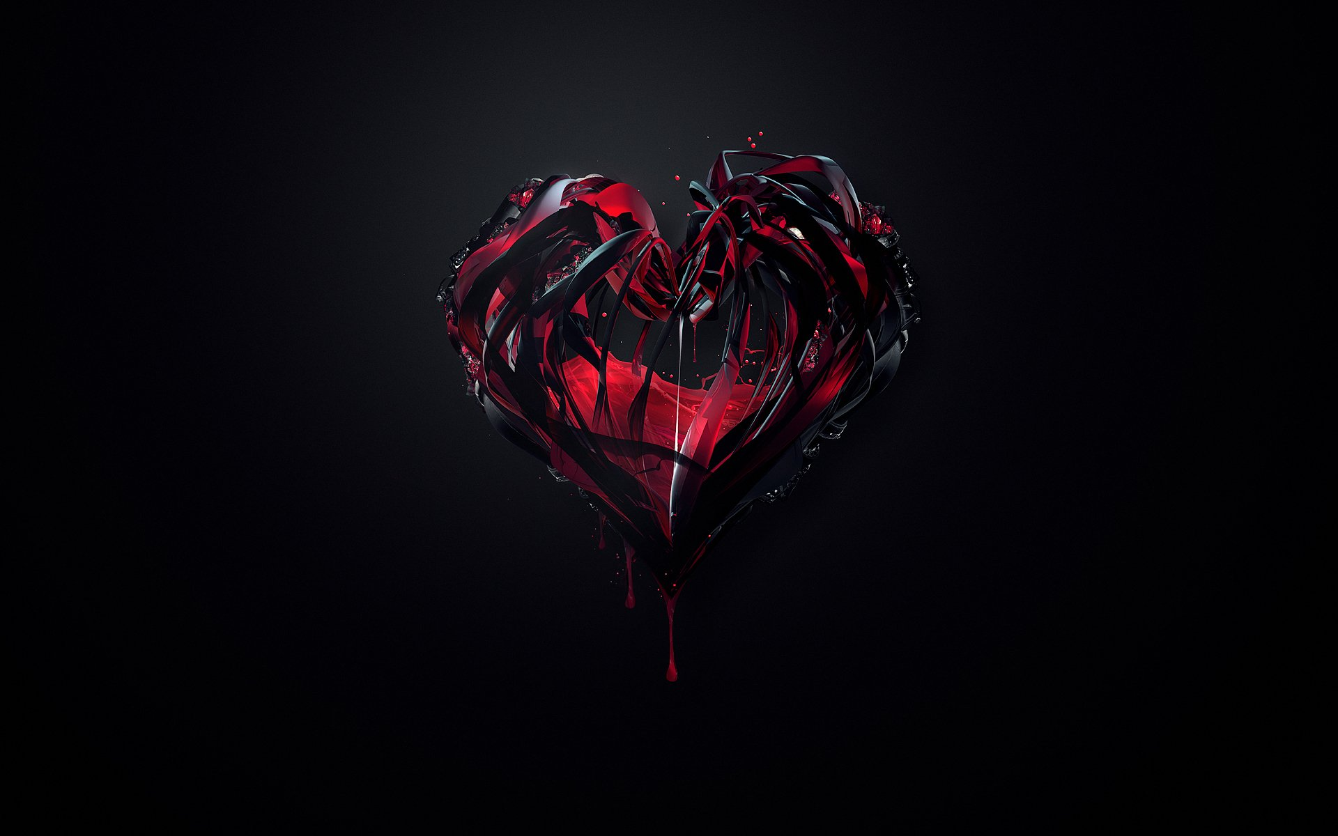 Black Red Heart Abstract 6228 HD And HQ Wallpapers Wallpaper