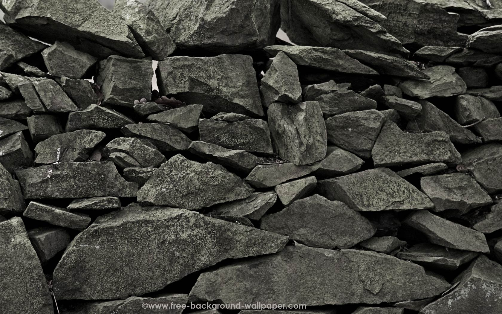 Grey Dry Stone Wall - Stone Background Wallpaper - 1680x1050 pixels