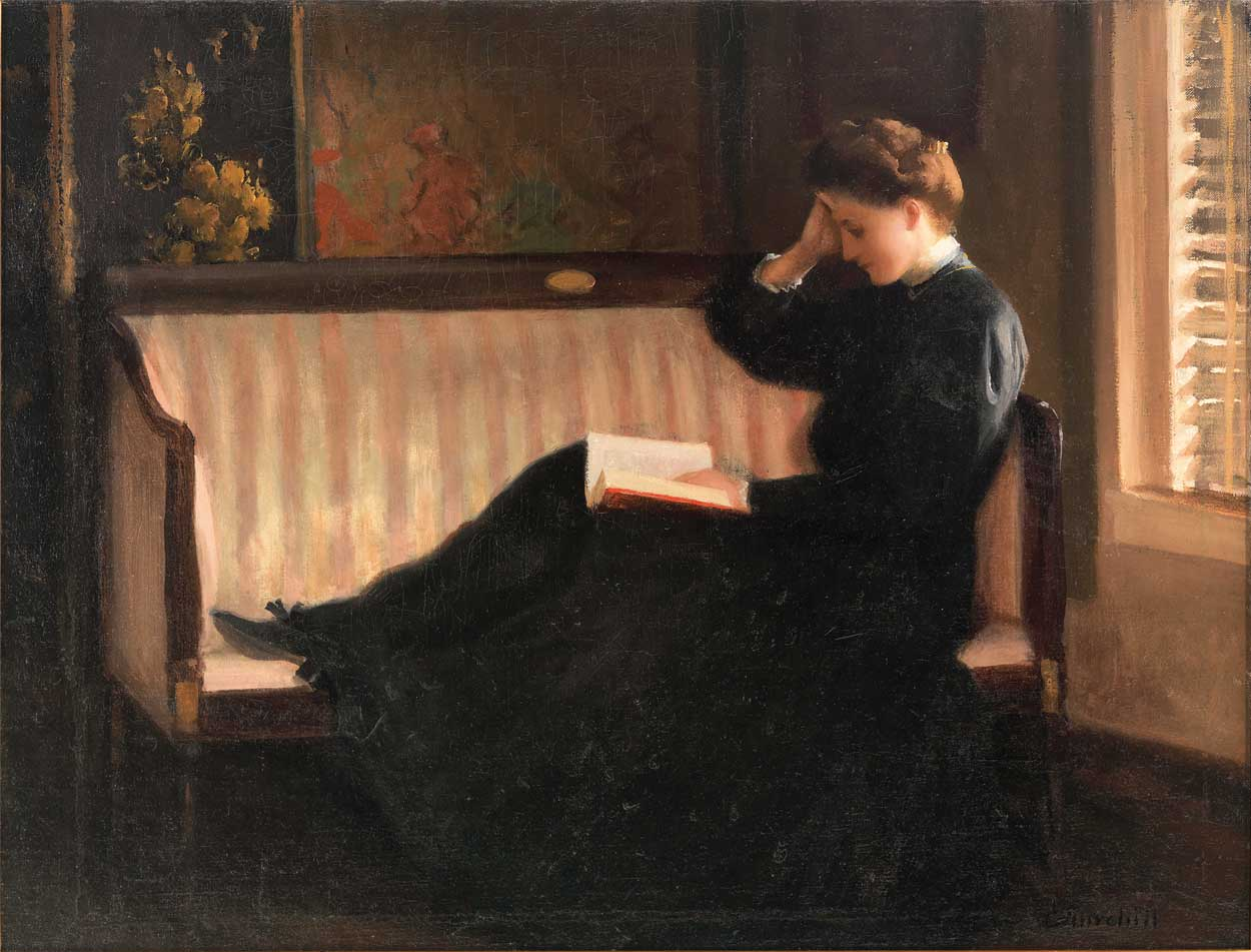 Women Reading   Labellefilleart: Woman Reading On A Settee, Wallpaper
