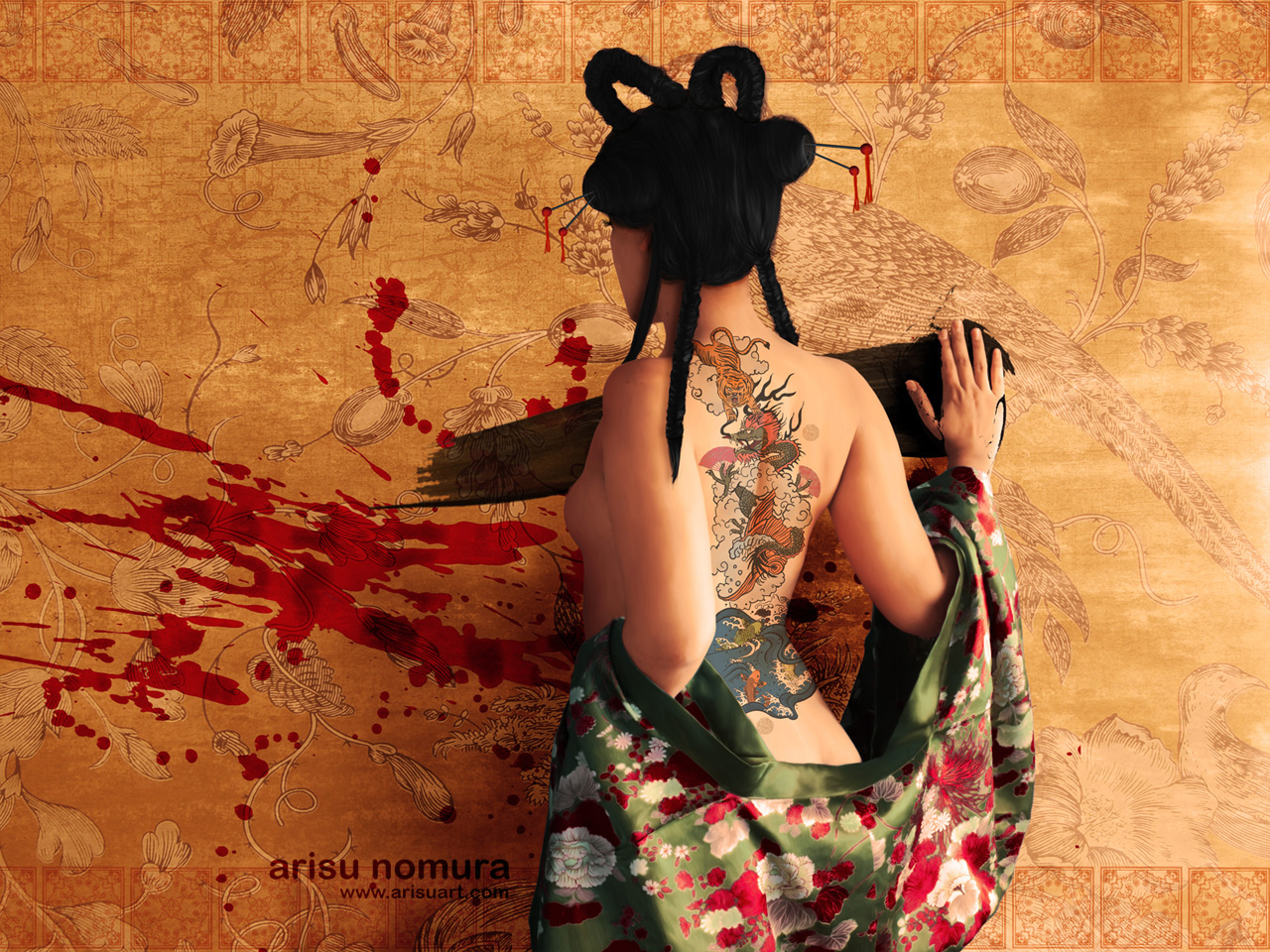 Tiger Girl Tattoo Wallpaper | Selected Photos And Wallpapers Wallpaper
