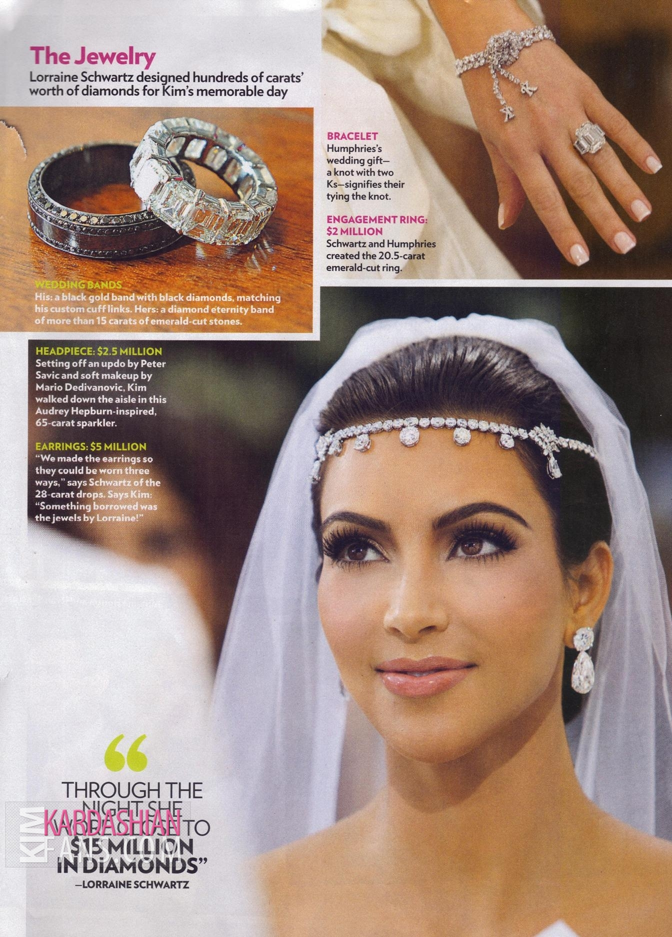 Kim Kardashian & Kris Humphries Kim Kardashian PEOPLE Magazine Wedding Wallpaper