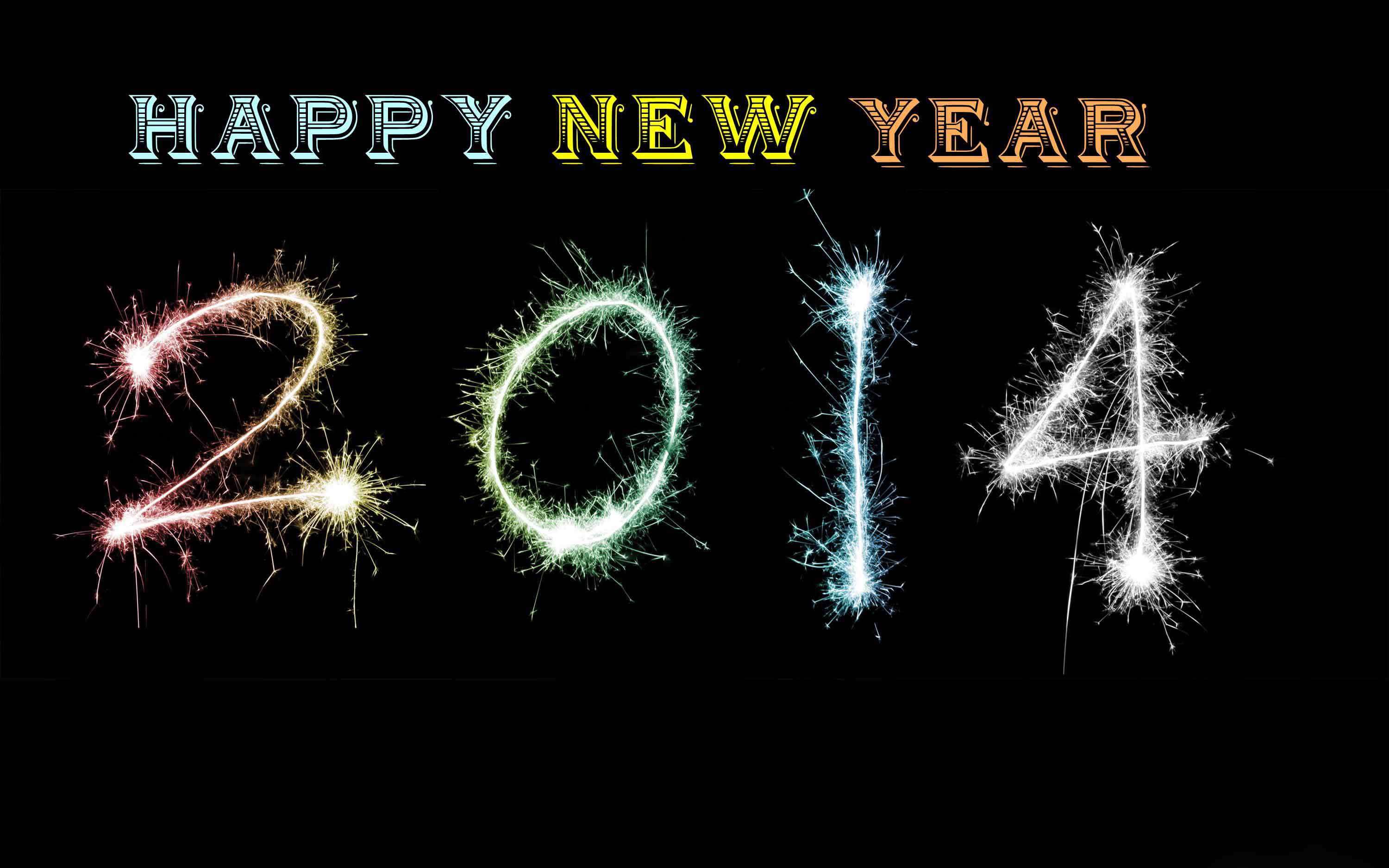 Abstract 2014 Free 2014 Happy New Year Wallpaper Wallpaper